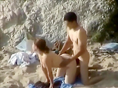 Young couple fucking on a beach