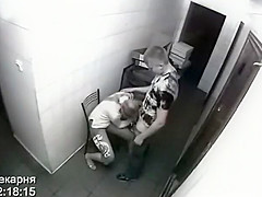 Security cam caught sex at a workplace