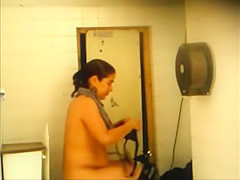 Poor woman takes a piss
