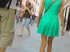 Impressive girl's upskirt on the street