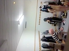 Peeping at schoolgirls in the locker room