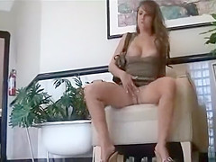 playful girl masturbating in public