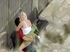 Student spying an older couple's sex