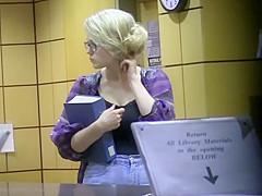 Sexy young librarian got big boobs