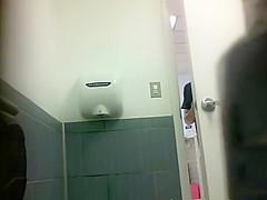 Beauty pisses in front of hidden camera