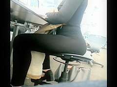 Big butt melts on the chair