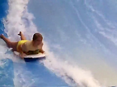 bikini accidents on the water slide