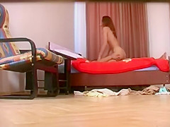 Hidden cam in a hotel room caught sex