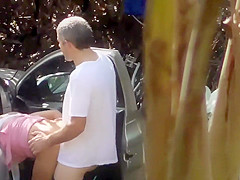 Bicyclist meets up with a prostitute