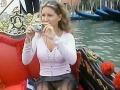 Romantic gondola ride with a hot slut