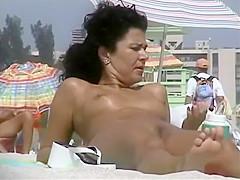 Sexy women nude on the beach