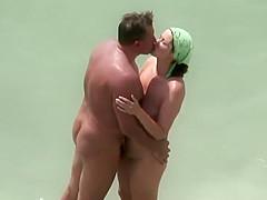 Mature wife giving him a blowjob