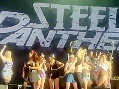 Boobs flashing during a concert