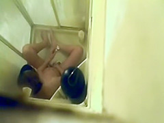 hot masturbation caught in the shower
