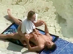 Voyeur caught a shy girl riding a dick
