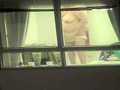 Sneaky view of my chubby neighbor