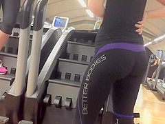 super firm big buttocks in tights