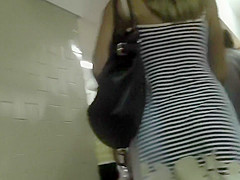 Tall girl wears a thong