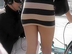Upskirt of a greek super model
