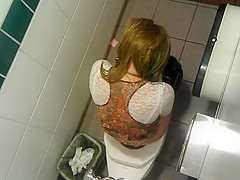 Juicy ass and tight pussy spied in toilet