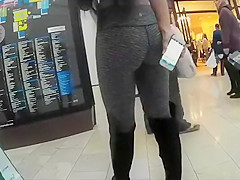 Young exhibitionist girl
