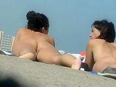 Chubby nudist girl with her boyfriend
