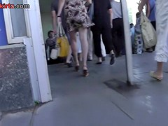 Sexy leopard summer suit upskirt video