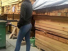 small colombian ass buying wood
