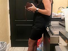 Hot Bartender Slut At work