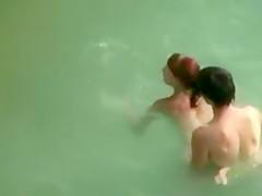 Secret Voyeur Beach Sex Video Couple Filmed Fucking in Water