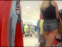 Candid Camera in Public Store Girl with Delicious Ass in Tight Pants
