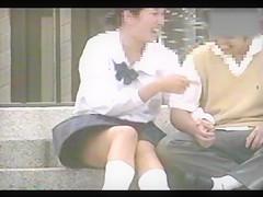 schoolgirls with open legs