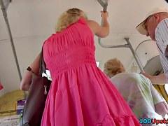 Hawt Barbie-like mother i'd like to fuck upskirt clip