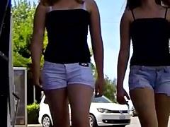 Candid - two Hot Teenies Sexy Panties Wazoo Pantoons Body