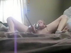 Roughest masturbation of the kinky chick
