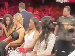 Perky nipple in the WWE ring