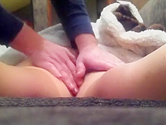 Amazing treatment for the girl's intimate parts