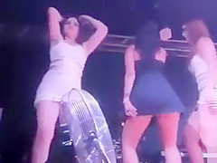 Tempting girls shaking their bums with the rhythm