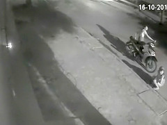 Scooter babes urinating in public