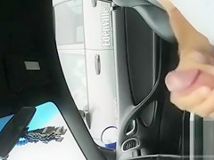 Jacking off in the auto and exposing my dick
