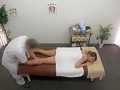 cute lady receives a sensual full body massage