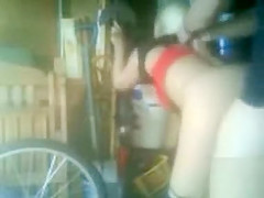 Deep doggystyle coitus in the garage