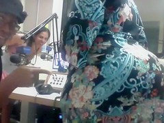 Our bootylicious producer in a dress has her huge ass bitten on by a colleague