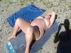 Sleeping BBW gets caught on camera by a voyeur
