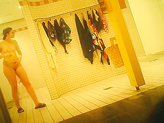 Hidden camera films ladies in the shower