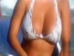 Busty lady amazing scenes caught by voyeur