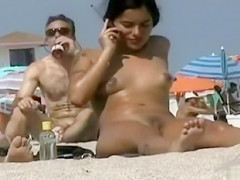 Shaved pussies in voyeur beach compilation