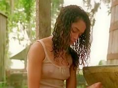 Actress Lisa Bonet in erotic scene from Angel Heart