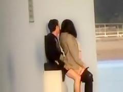 Tourist jerks off onto his pregnant girlfriend