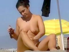 Italian beach babes in voyeur compilation